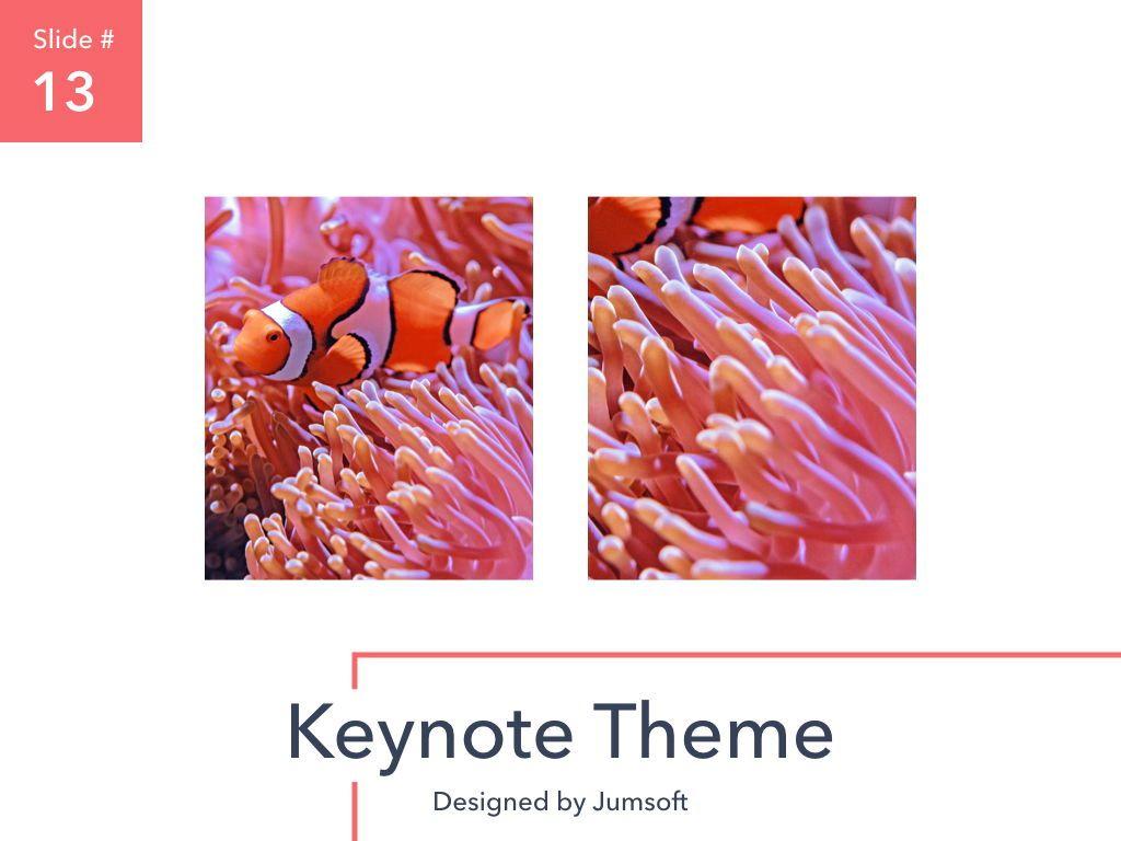 Living Coral Keynote Theme, Slide 14, 04976, Presentation Templates — PoweredTemplate.com