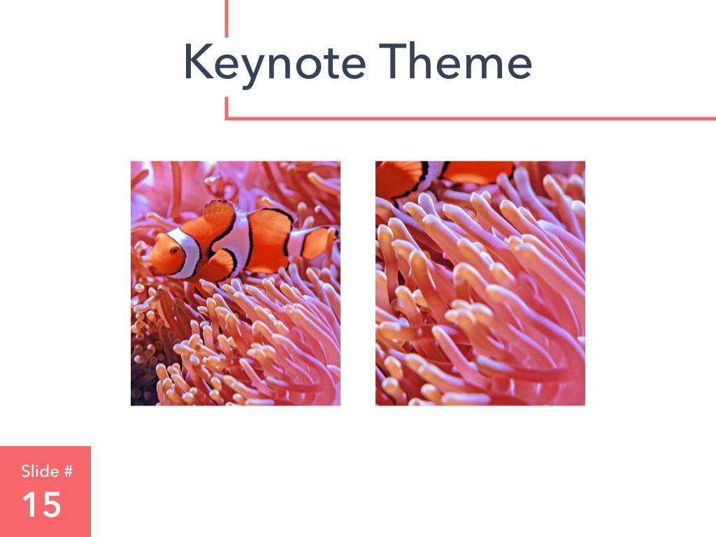 Living Coral Keynote Theme, Slide 16, 04976, Presentation Templates — PoweredTemplate.com