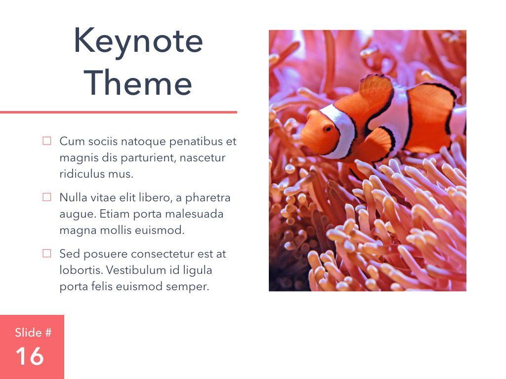 Living Coral Keynote Theme, Slide 17, 04976, Presentation Templates — PoweredTemplate.com
