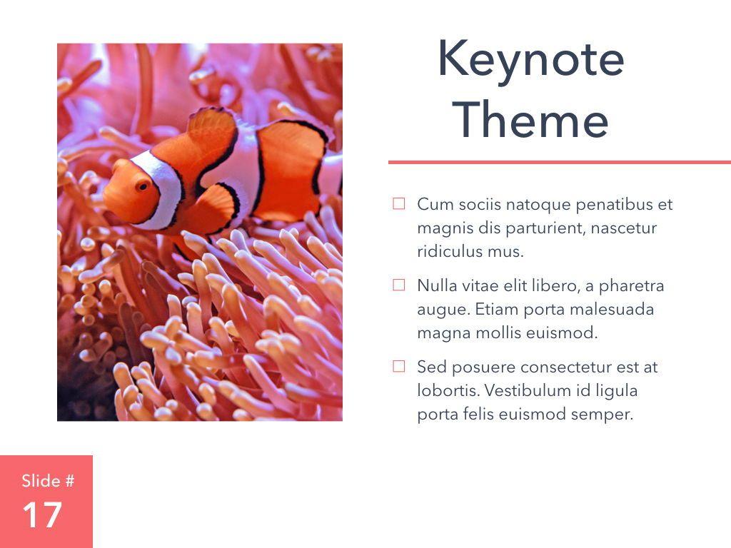 Living Coral Keynote Theme, Slide 18, 04976, Presentation Templates — PoweredTemplate.com