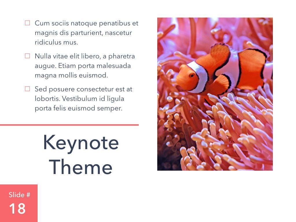 Living Coral Keynote Theme, Slide 19, 04976, Presentation Templates — PoweredTemplate.com