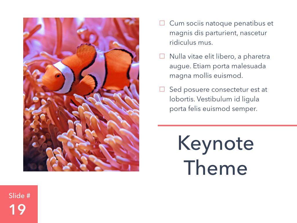 Living Coral Keynote Theme, Slide 20, 04976, Presentation Templates — PoweredTemplate.com