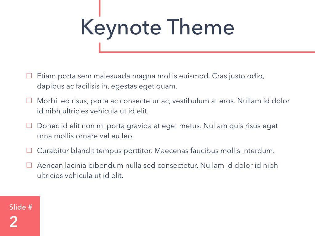 Living Coral Keynote Theme, Slide 3, 04976, Presentation Templates — PoweredTemplate.com