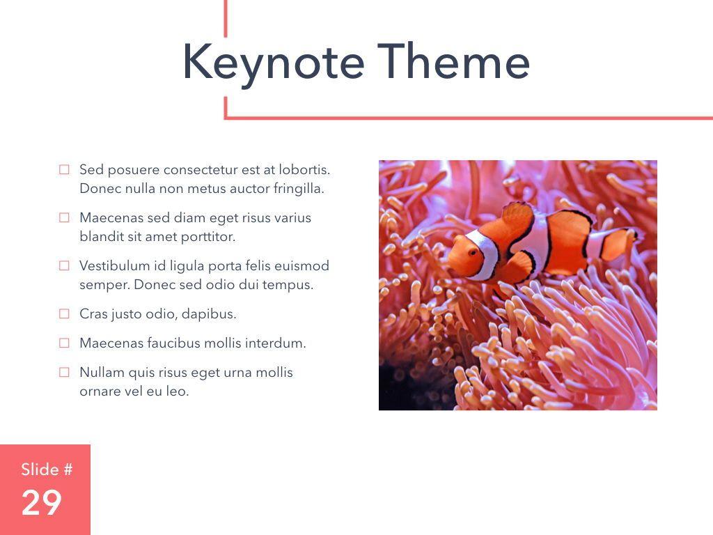 Living Coral Keynote Theme, Slide 30, 04976, Presentation Templates — PoweredTemplate.com