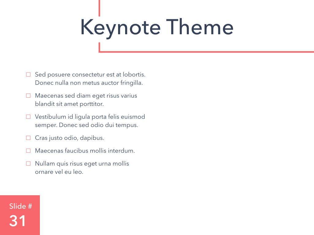 Living Coral Keynote Theme, Slide 32, 04976, Presentation Templates — PoweredTemplate.com