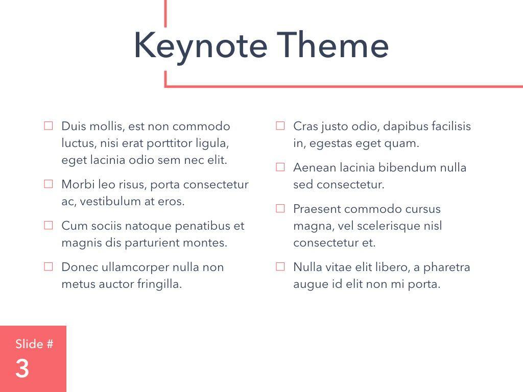 Living Coral Keynote Theme, Slide 4, 04976, Presentation Templates — PoweredTemplate.com