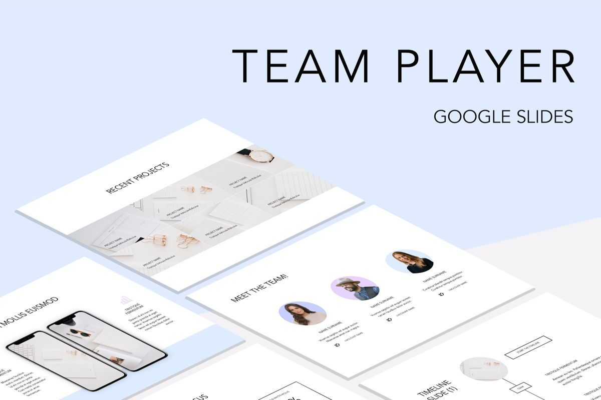 Team Player Google Slides, 04977, Presentation Templates — PoweredTemplate.com
