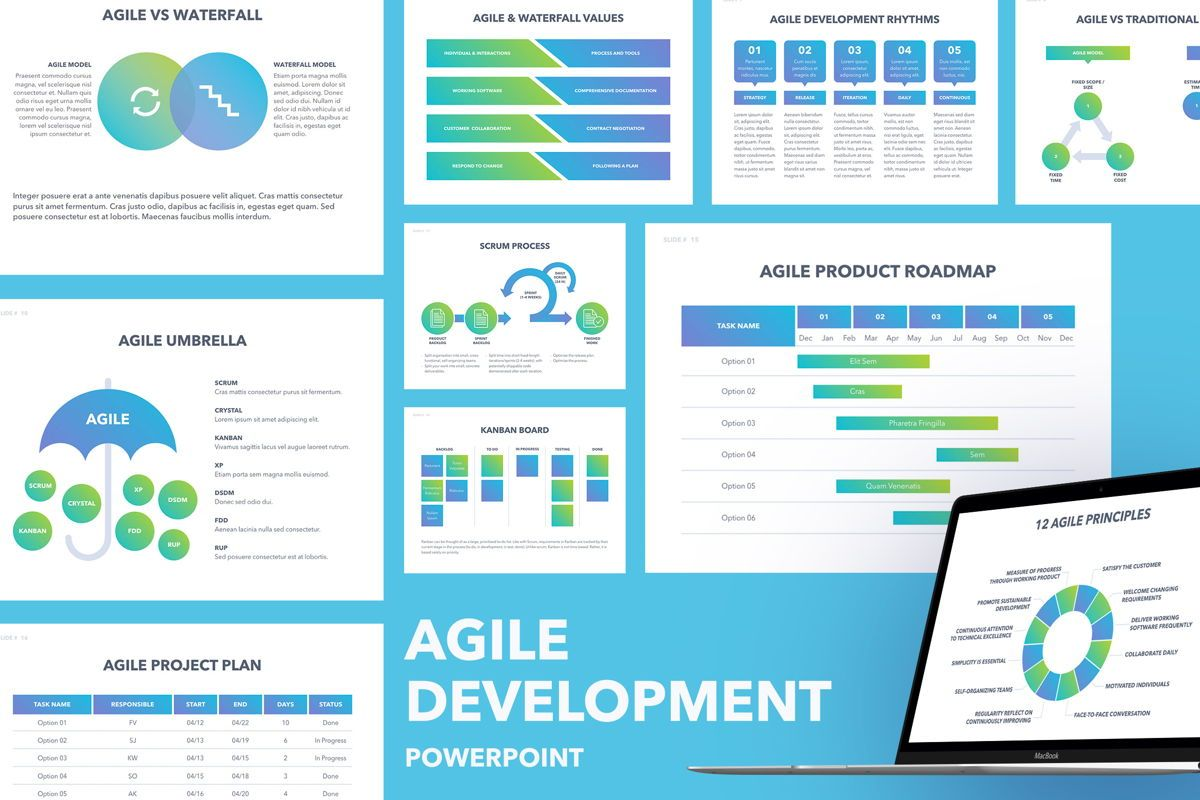 Agile Development PowerPoint Template, 04979, Business Models — PoweredTemplate.com