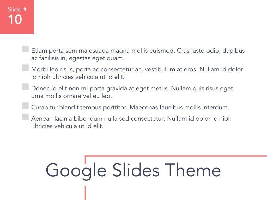 Living Coral Google Slides Theme, Slide 11, 04980, Presentation Templates — PoweredTemplate.com