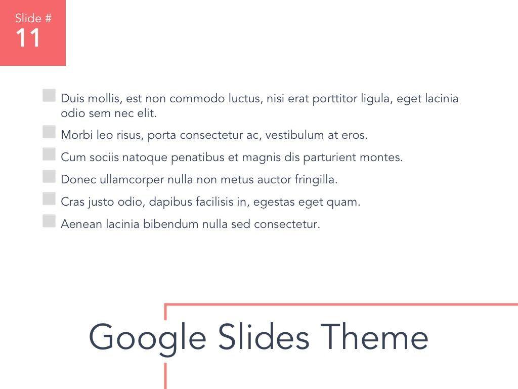 Living Coral Google Slides Theme, Slide 12, 04980, Presentation Templates — PoweredTemplate.com