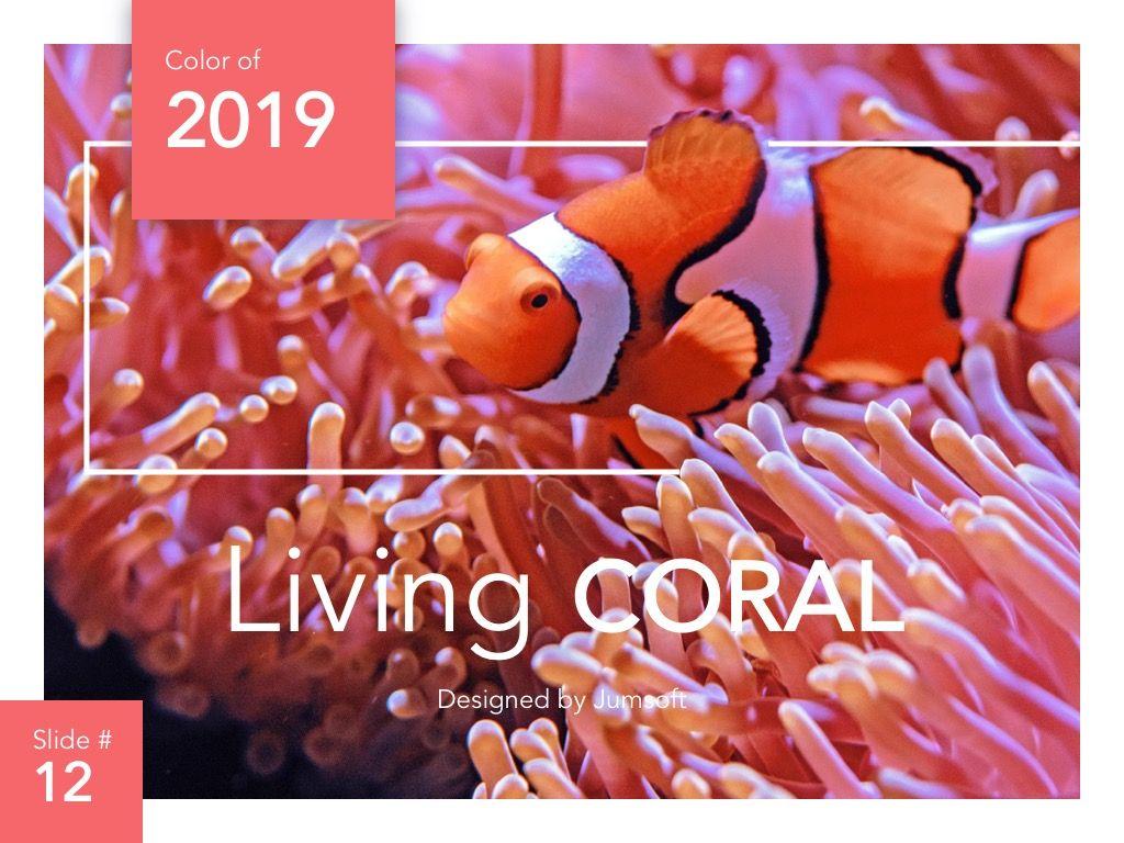 Living Coral Google Slides Theme, Slide 13, 04980, Presentation Templates — PoweredTemplate.com