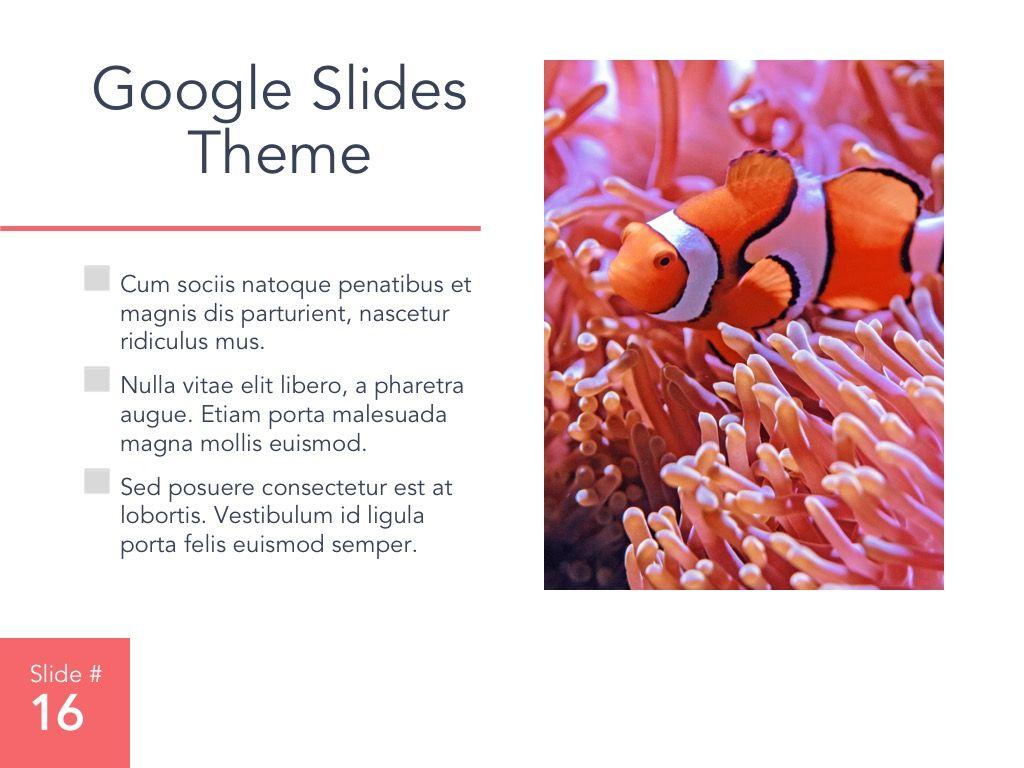 Living Coral Google Slides Theme, Slide 17, 04980, Presentation Templates — PoweredTemplate.com