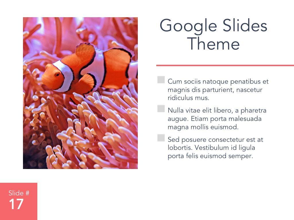 Living Coral Google Slides Theme, Slide 18, 04980, Presentation Templates — PoweredTemplate.com