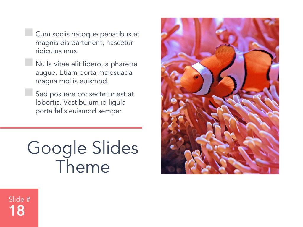 Living Coral Google Slides Theme, Slide 19, 04980, Presentation Templates — PoweredTemplate.com