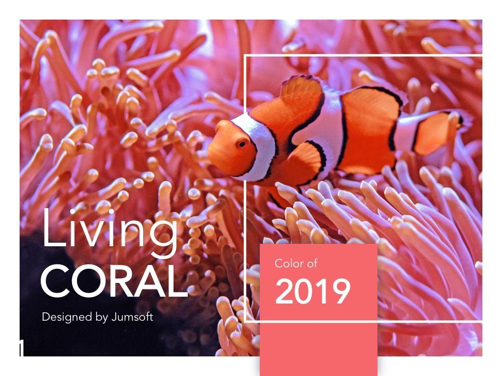Living Coral Google Slides Theme, Slide 2, 04980, Presentation Templates — PoweredTemplate.com
