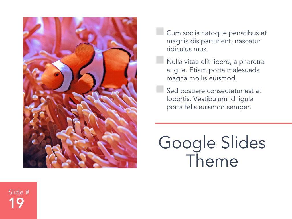 Living Coral Google Slides Theme, Slide 20, 04980, Presentation Templates — PoweredTemplate.com