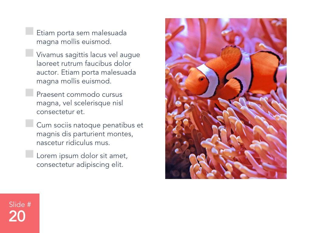 Living Coral Google Slides Theme, Slide 21, 04980, Presentation Templates — PoweredTemplate.com