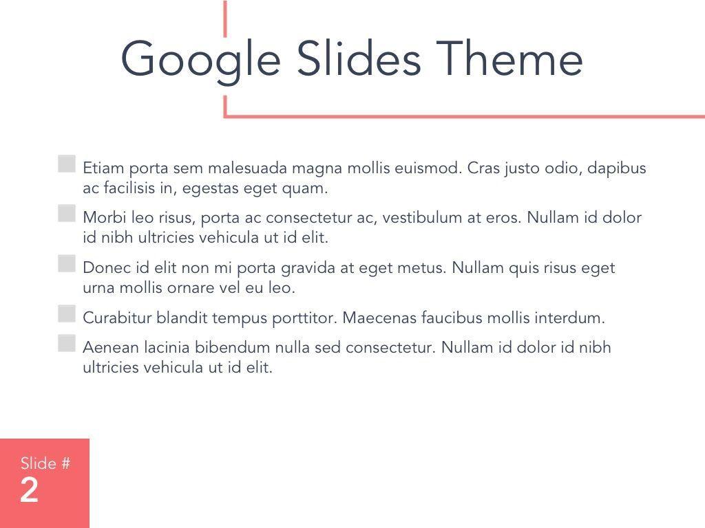 Living Coral Google Slides Theme, Slide 3, 04980, Presentation Templates — PoweredTemplate.com