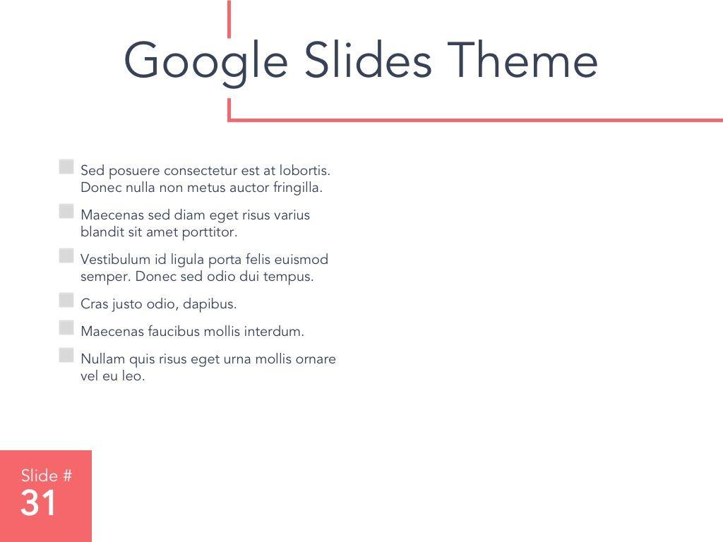 Living Coral Google Slides Theme, Slide 32, 04980, Presentation Templates — PoweredTemplate.com