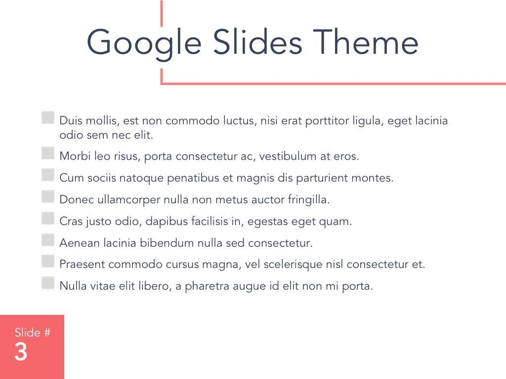 Living Coral Google Slides Theme, Slide 4, 04980, Presentation Templates — PoweredTemplate.com