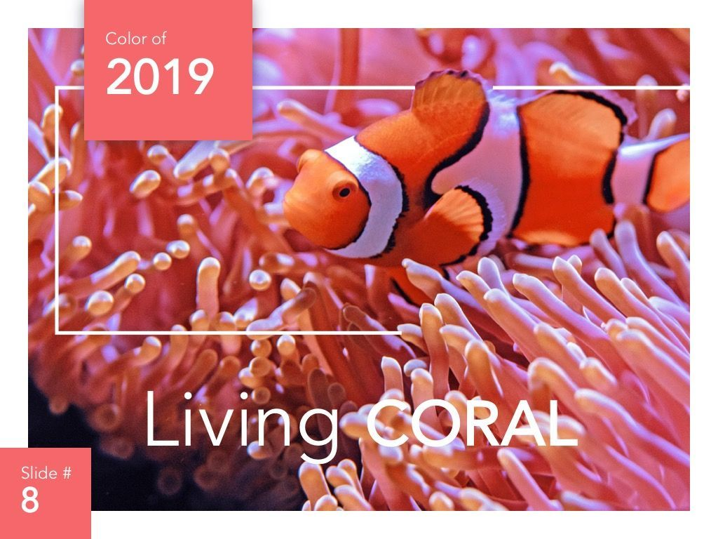 Living Coral Google Slides Theme, Slide 9, 04980, Presentation Templates — PoweredTemplate.com