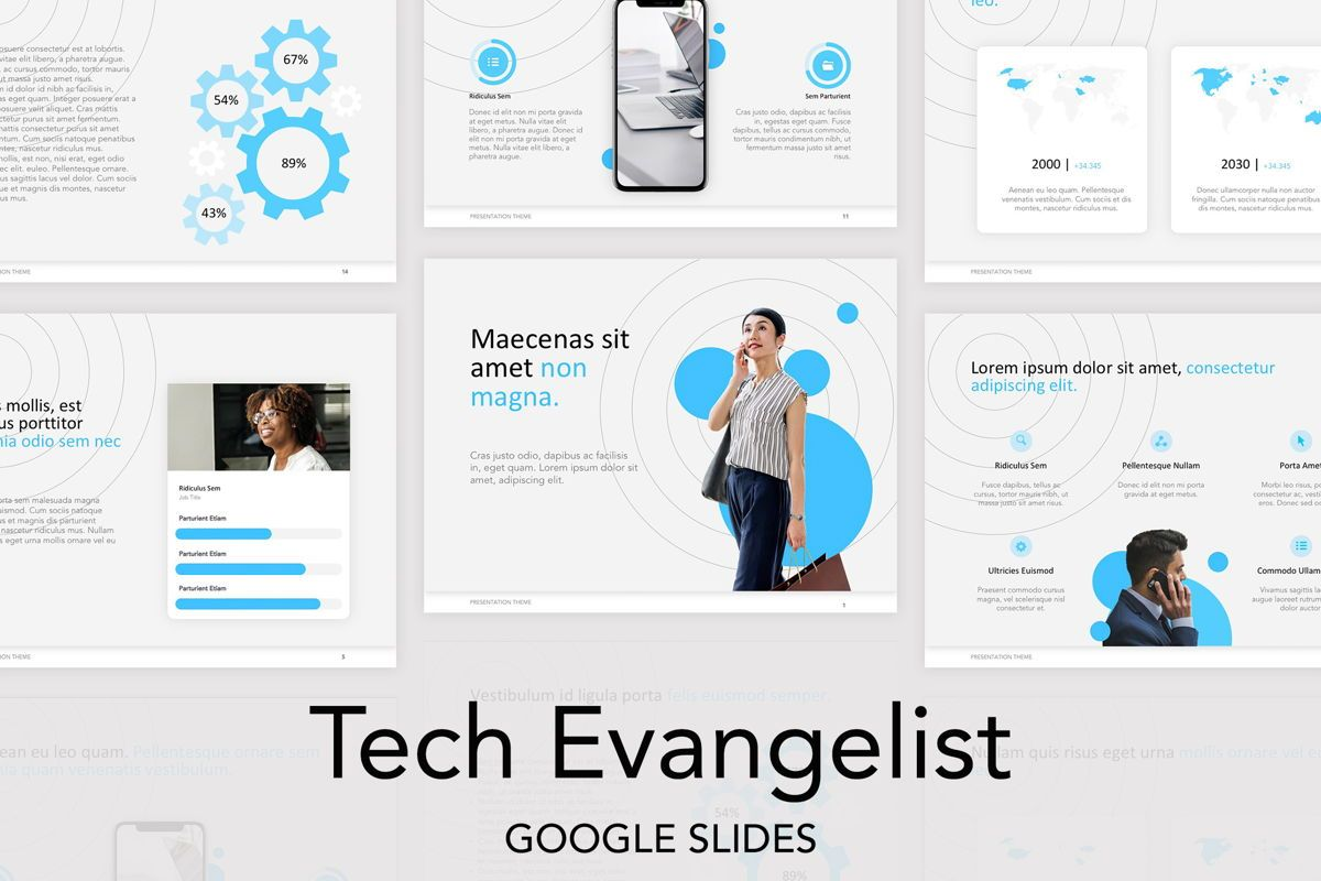 Tech Evangelist Google Slides Theme, 04981, Presentation Templates — PoweredTemplate.com