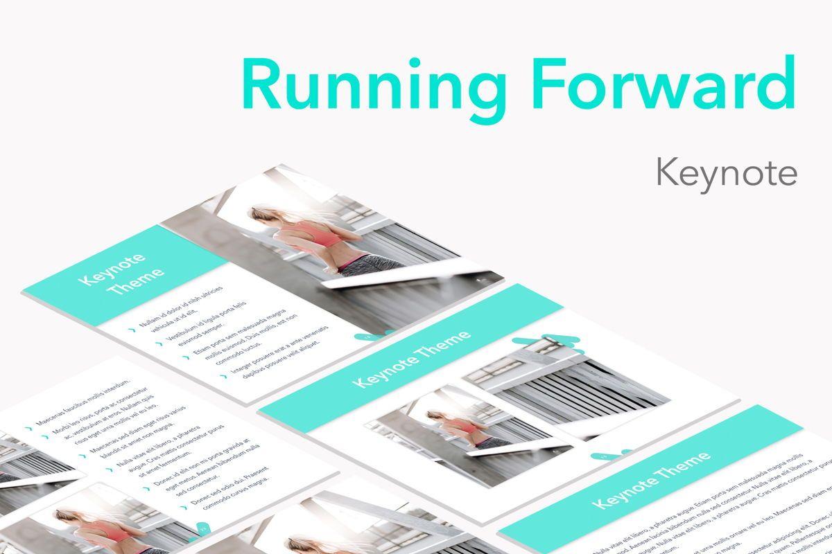 Running Forward Keynote Theme, 04982, Presentation Templates — PoweredTemplate.com