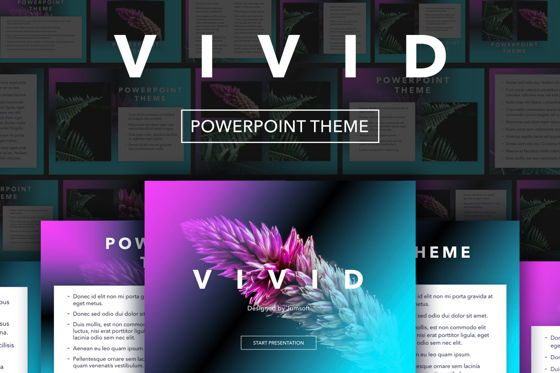 Presentation Templates: Vivid PowerPoint Theme #04983