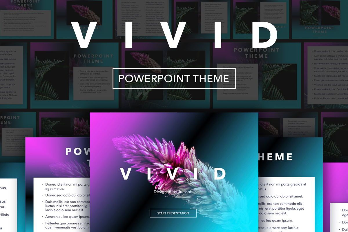 Vivid PowerPoint Theme, 04983, Presentation Templates — PoweredTemplate.com