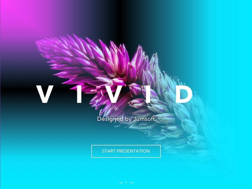 Vivid PowerPoint Theme, Slide 2, 04983, Presentation Templates — PoweredTemplate.com