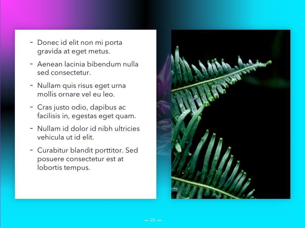 Vivid PowerPoint Theme, Slide 21, 04983, Presentation Templates — PoweredTemplate.com