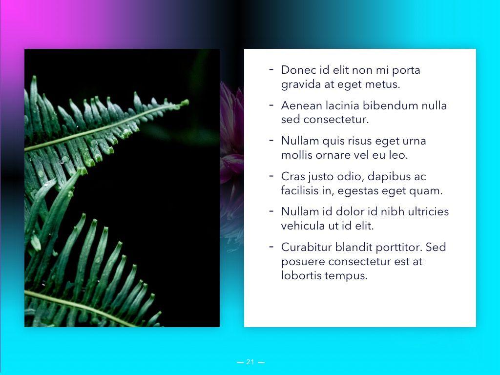 Vivid PowerPoint Theme, Slide 22, 04983, Presentation Templates — PoweredTemplate.com