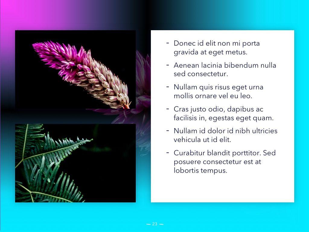 Vivid PowerPoint Theme, Slide 24, 04983, Presentation Templates — PoweredTemplate.com