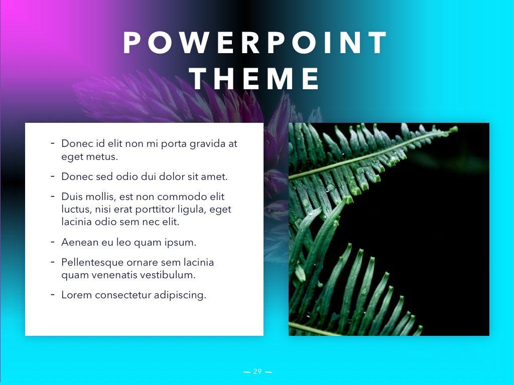 Vivid PowerPoint Theme, Slide 30, 04983, Presentation Templates — PoweredTemplate.com