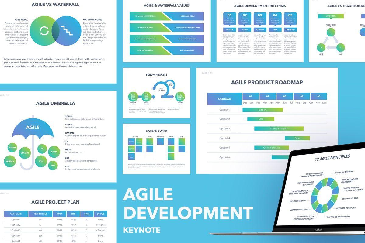 Agile Development Keynote Template, 04985, Business Models — PoweredTemplate.com