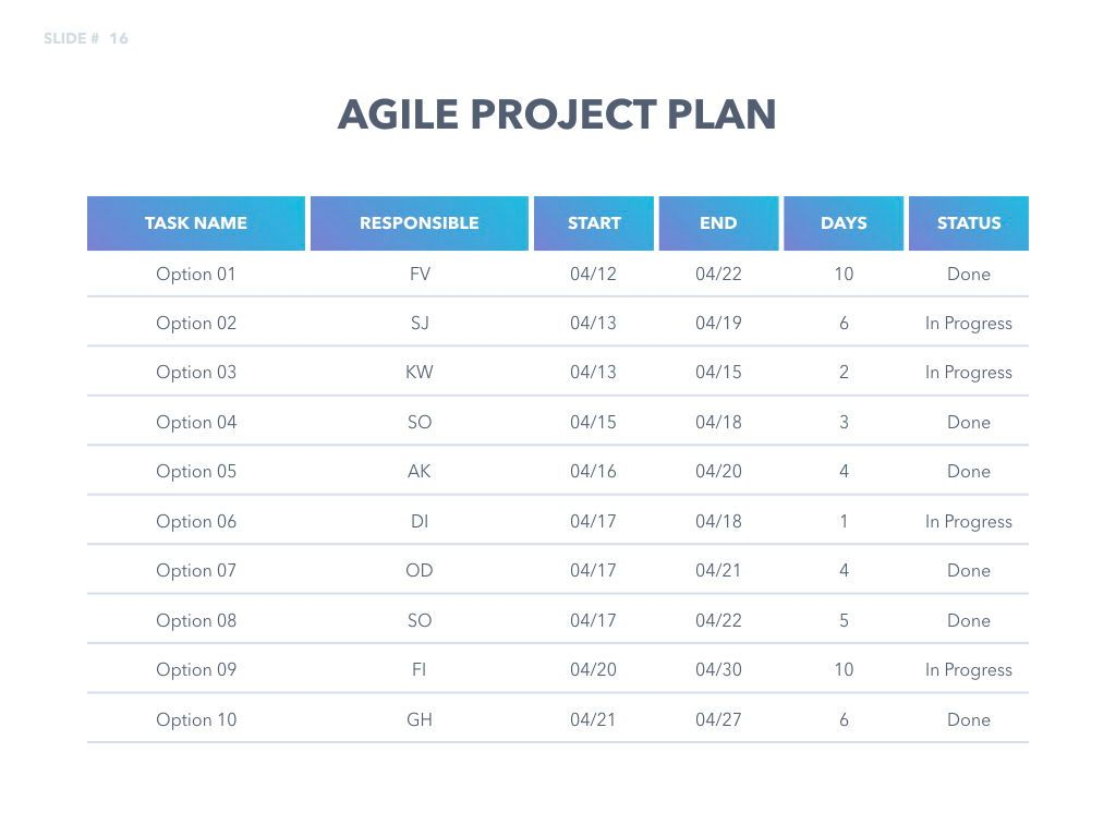 Agile Development Keynote Template, Slide 17, 04985, Business Models — PoweredTemplate.com
