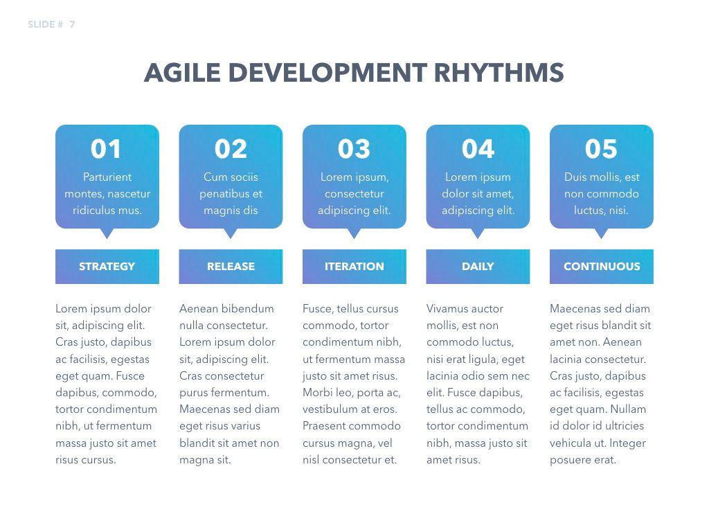 Agile Development Keynote Template, Slide 8, 04985, Business Models — PoweredTemplate.com