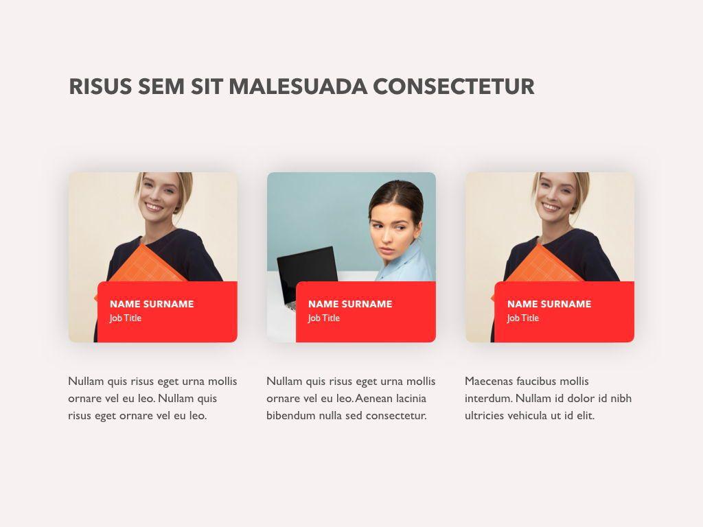 Red Line Keynote Template, Slide 8, 04987, Presentation Templates — PoweredTemplate.com