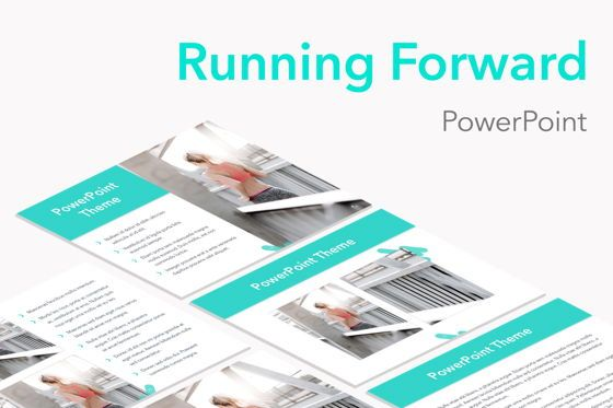 Presentation Templates: Running Forward PowerPoint Theme #04988