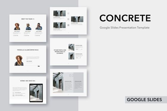 Presentation Templates: Concrete Google Slides Template #04990