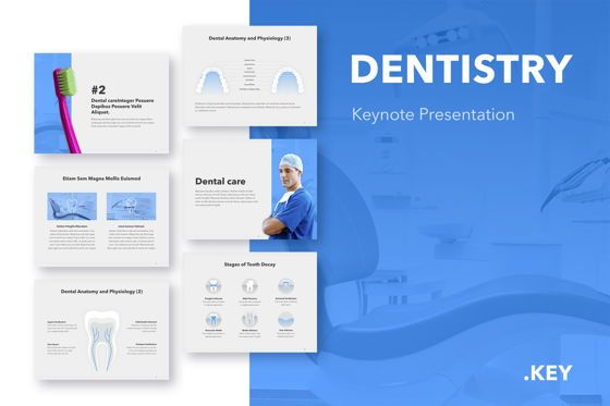 Medical Diagrams and Charts: Dentistry Keynote Template #04993