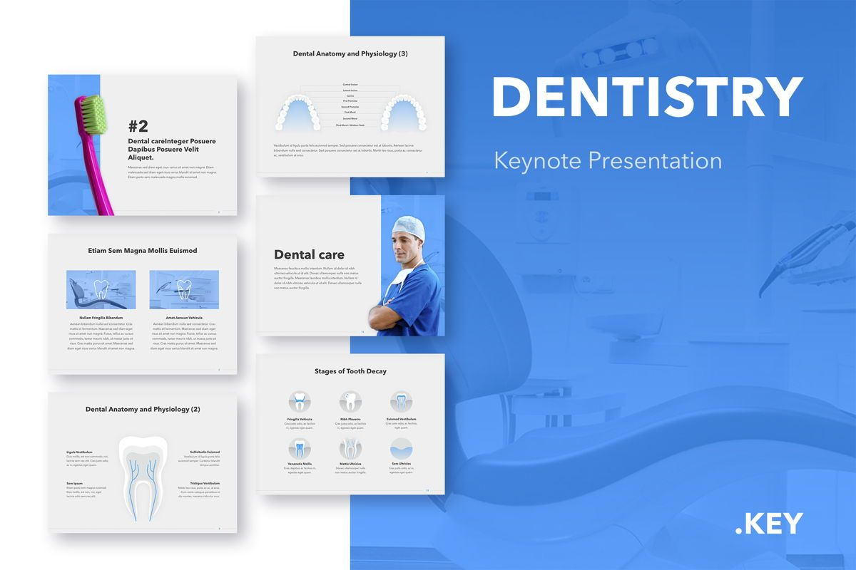 Dentistry Keynote Template, 04993, Medical Diagrams and Charts — PoweredTemplate.com
