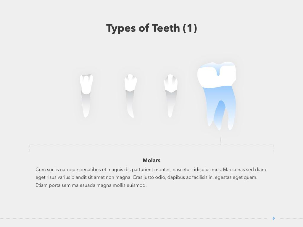 Dentistry Keynote Template, Slide 10, 04993, Medical Diagrams and Charts — PoweredTemplate.com