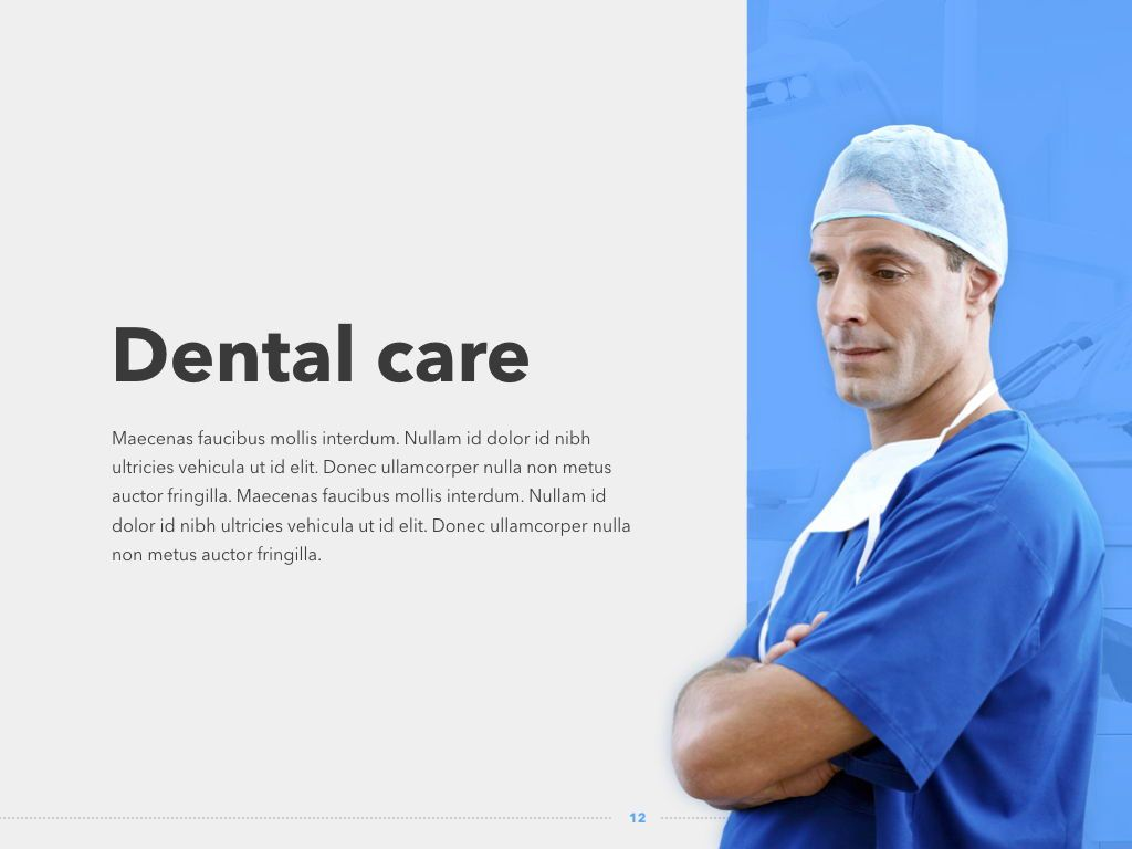 Dentistry Keynote Template, Slide 13, 04993, Medical Diagrams and Charts — PoweredTemplate.com