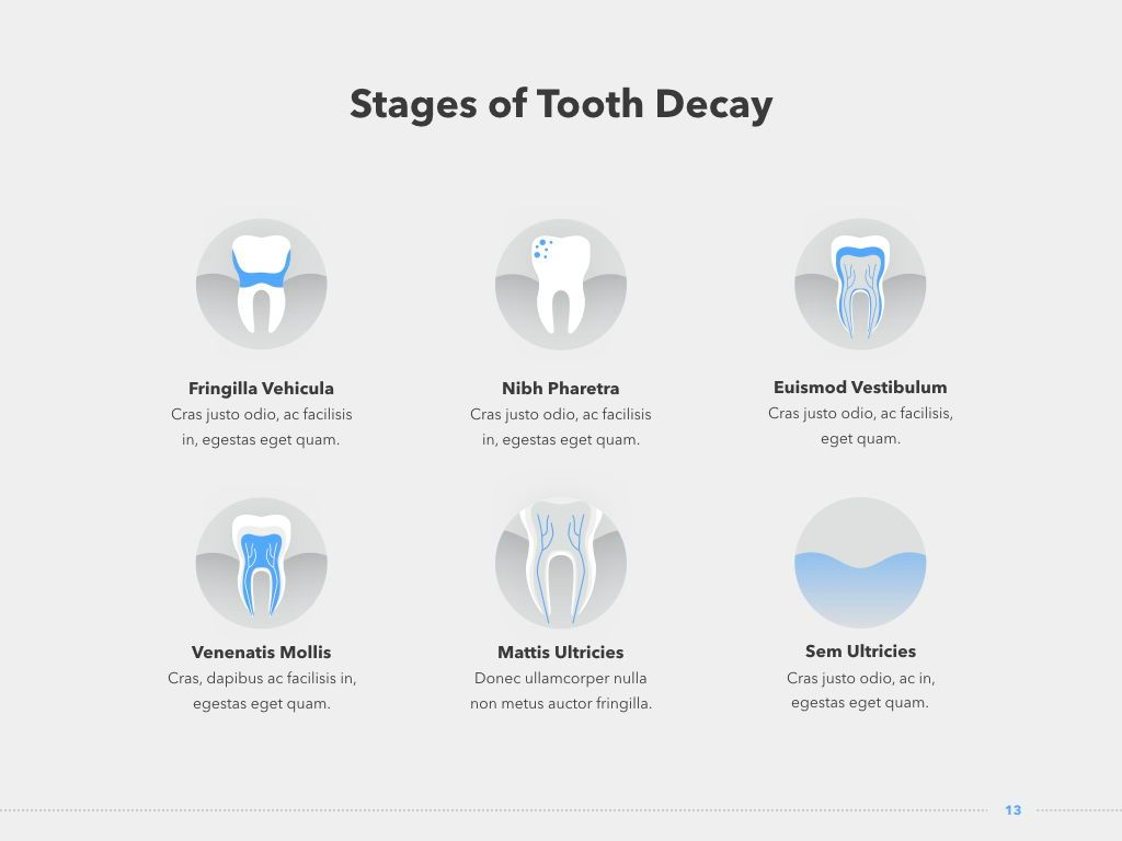 Dentistry Keynote Template, Slide 14, 04993, Medical Diagrams and Charts — PoweredTemplate.com