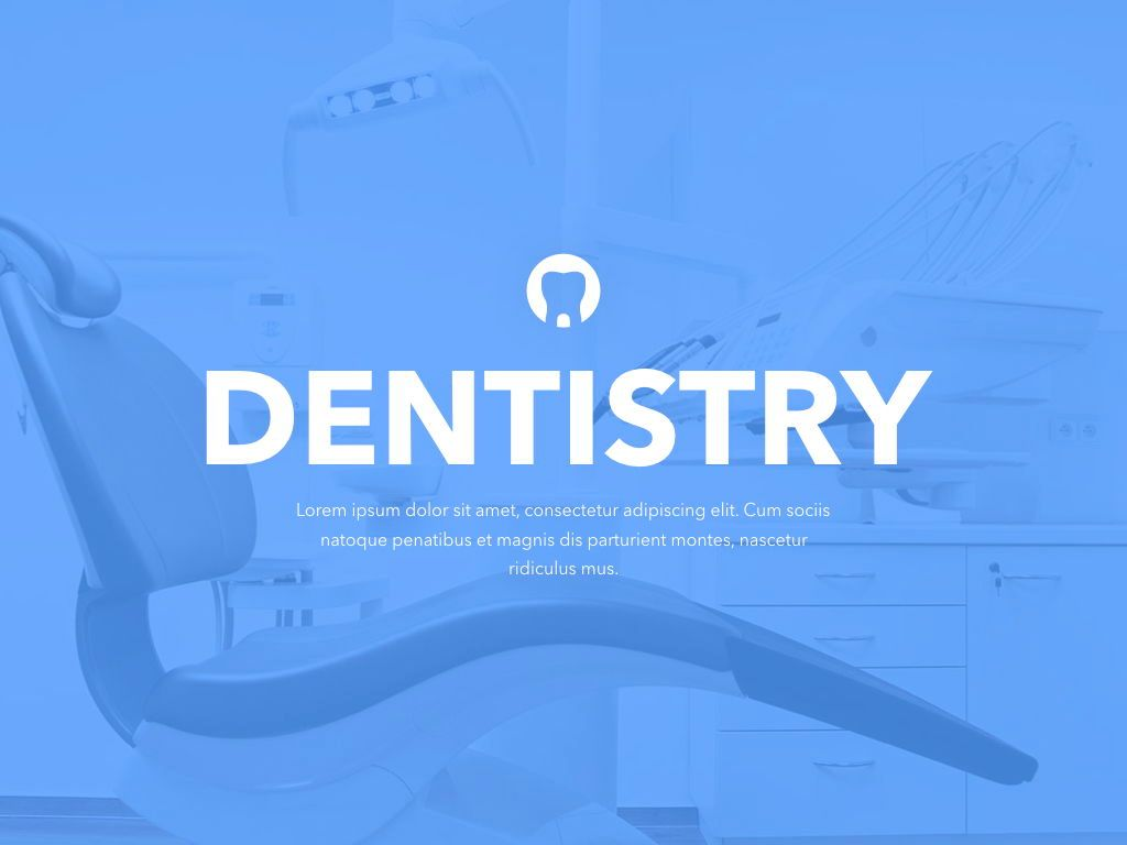 Dentistry Keynote Template, Slide 2, 04993, Medical Diagrams and Charts — PoweredTemplate.com