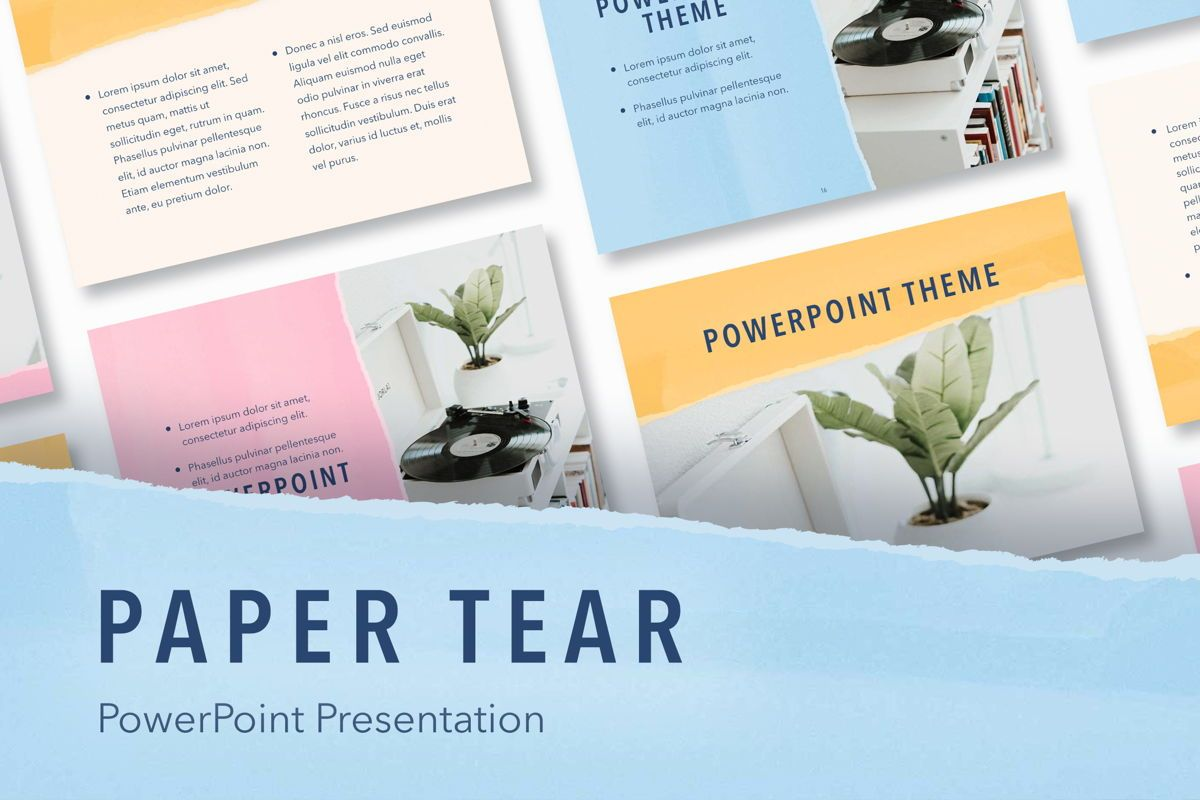 Paper Tear PowerPoint Template, 04995, Presentation Templates — PoweredTemplate.com