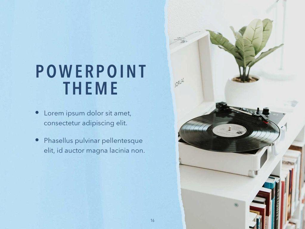 Paper Tear PowerPoint Template, Slide 17, 04995, Presentation Templates — PoweredTemplate.com