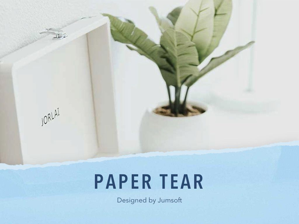 Paper Tear PowerPoint Template, Slide 2, 04995, Presentation Templates — PoweredTemplate.com