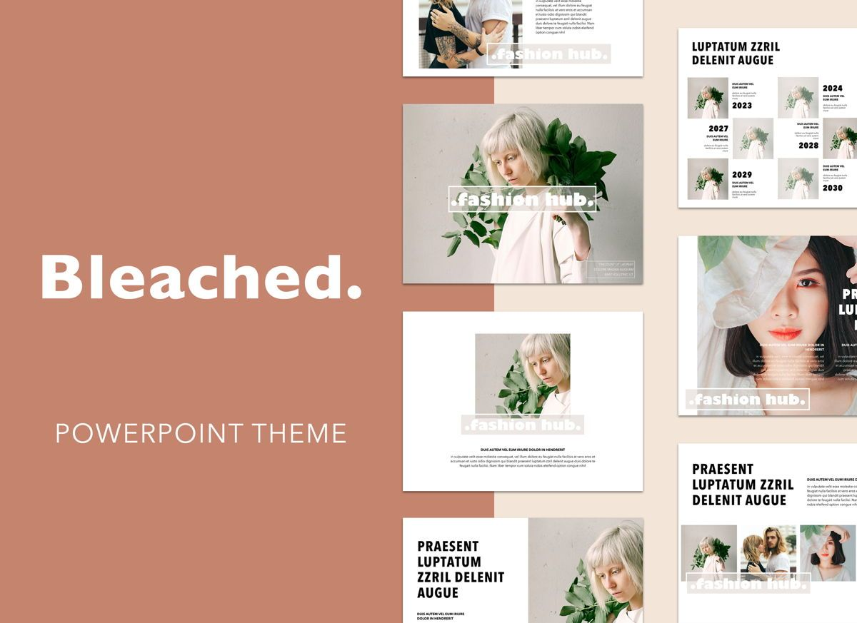 Bleached Powerpoint Presentation Template, 04997, Presentation Templates — PoweredTemplate.com